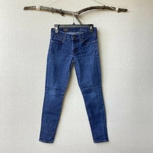 J.CREW Toothpick Fitted Skinny Denim Cropped Leg Jeans Sz 24 Ankle Women's